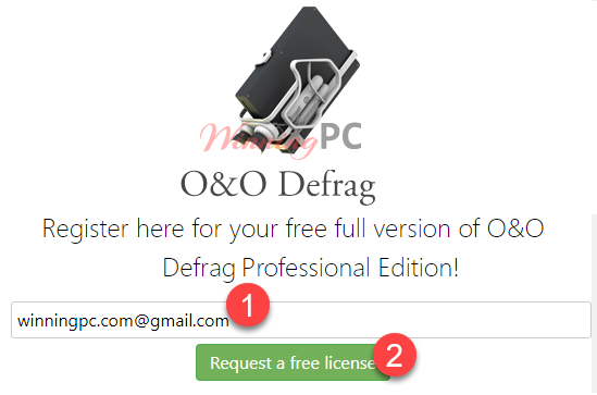Oo Defrag Professional Giveaway Page