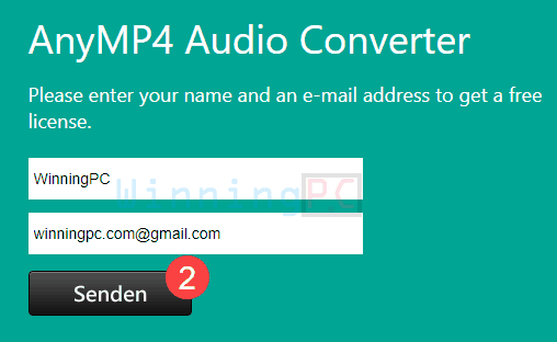 Giveaway Anymp4 Audio Converter Free Key Step 1