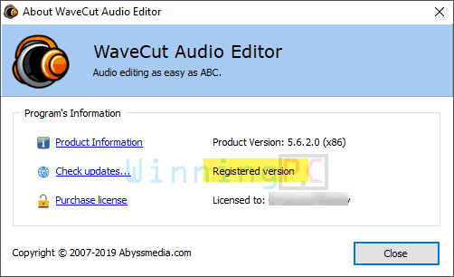 Giveaway Wavecut Audio Editor Free License Key Step 4