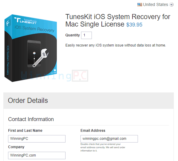 Tuneskit Ios System Recovery For Mac License Key Step 1