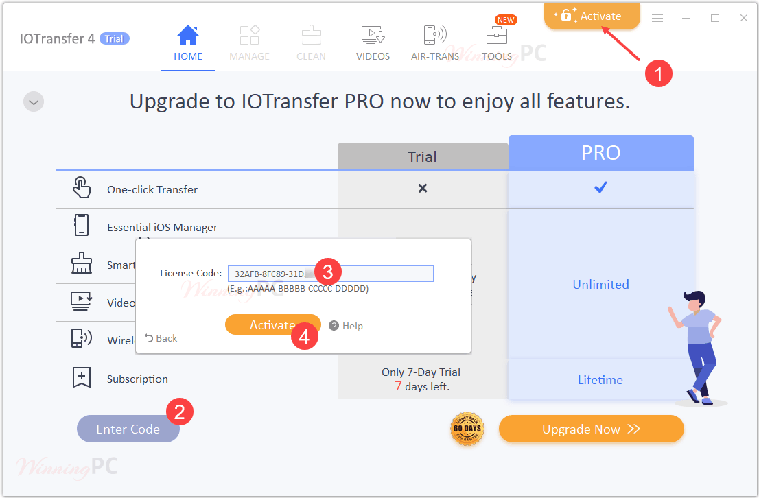 Activate Iotransfer Pro