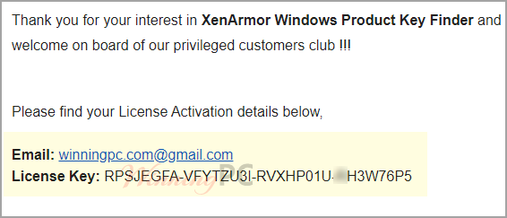 Xenarmor Windows Product Key Finder License Code