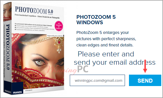 Benvista Photozoom Classic Giveaway Page