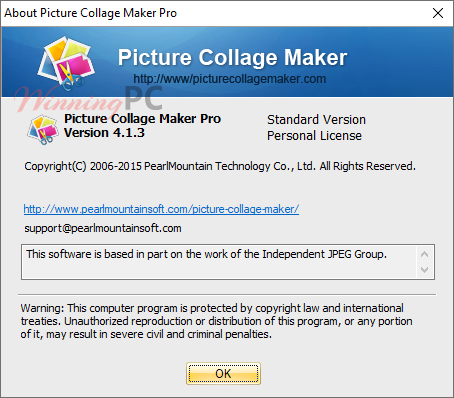 Picture Collage Maker Pro License Info
