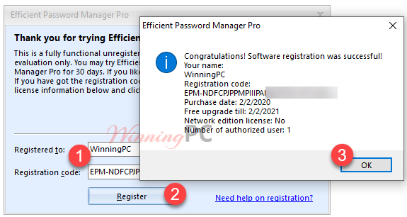 Efficient Password Manager License Key