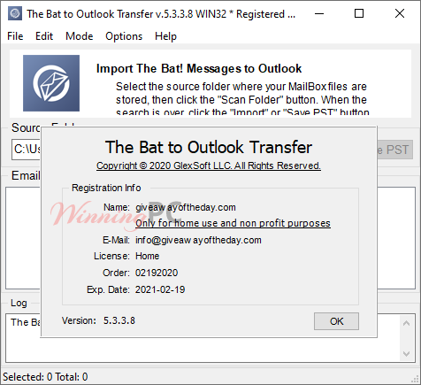 The Bat To Outlook Transfer Giveaway