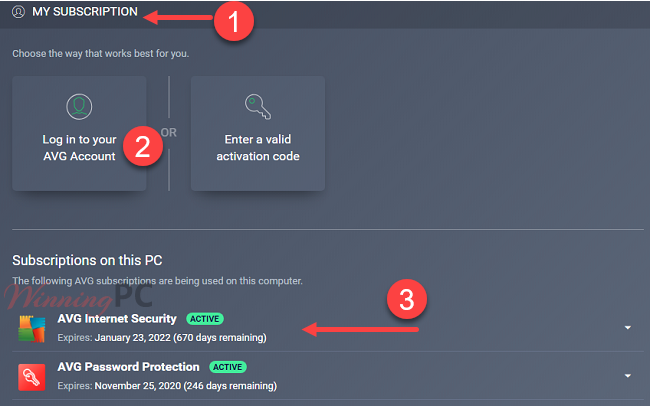 Avg Internet Security Subcription