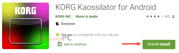 Korg Kaossilator For Android Giveaway