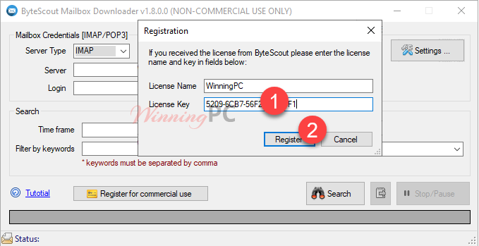 Bytescout Mailbox Downloader License Key Free