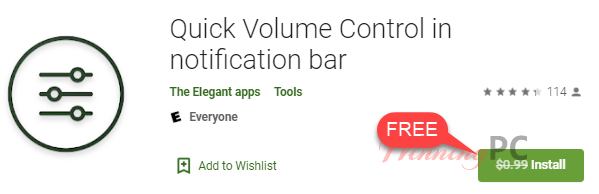 Quick Volume Control In Notification Bar Free
