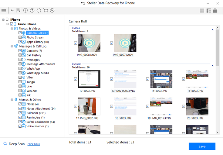 Stellar Data Recovery For Iphone Preview Screenshot