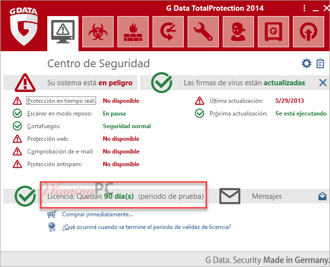 Subscription G Data Totalprotection 2014