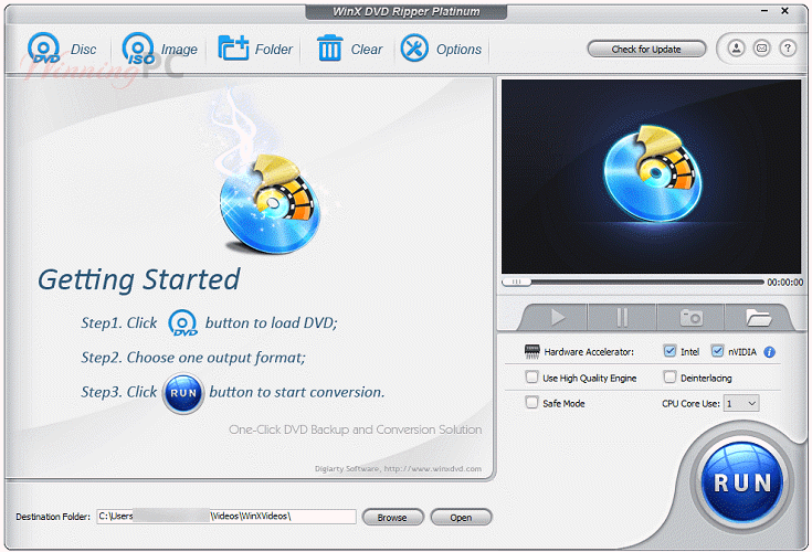 Winx Dvd Ripper Platinum Main Screenshot