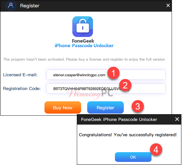 Iphone Passcode Unlocker Register