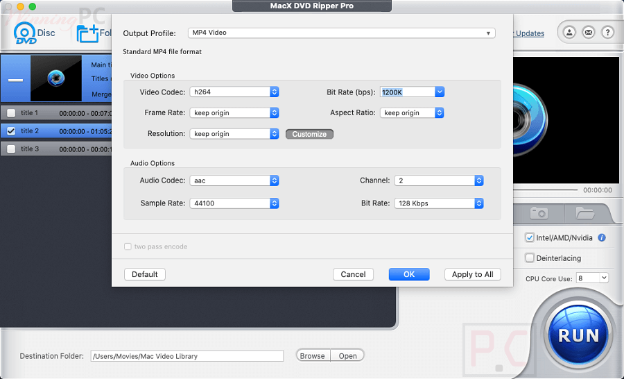 Macx Dvd Ripper Pro Ouput Settings