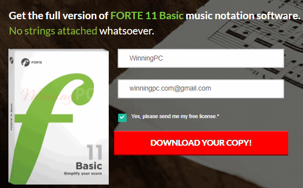 Forte Basic Edition Giveaway Page