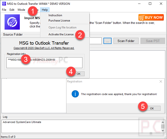 Msg To Outlook Transfer Activate