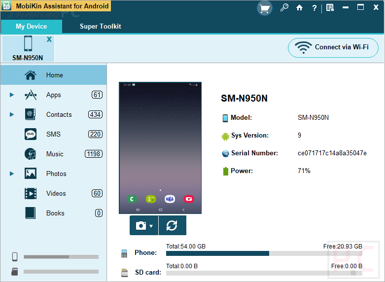 Mobikin Assistant For Android Screenshot Windows Version