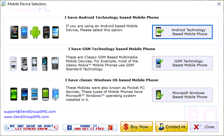 Drpu Bulk Sms Professional Mobile Selection