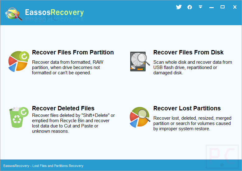 Eassos Recovery Screenshot