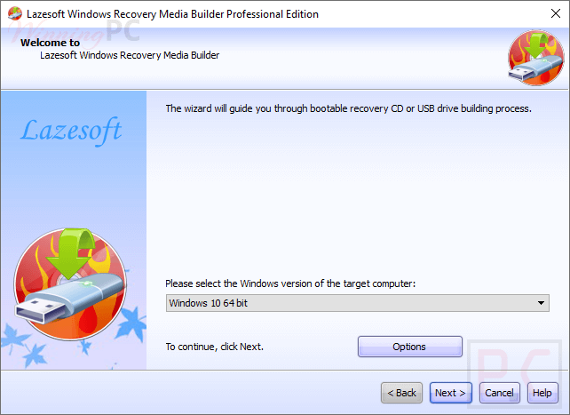 Lazesoft Windows Recovery Screenshot