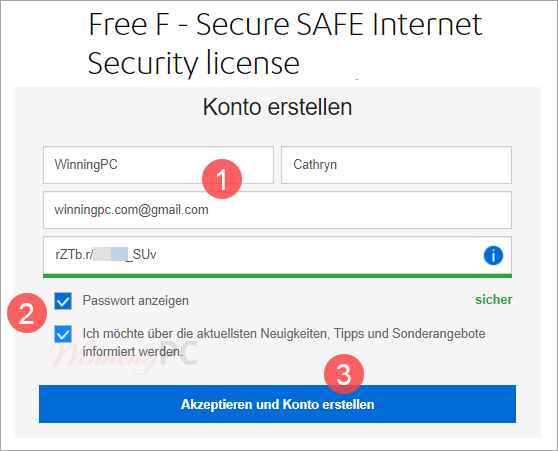 F Secure Safe Giveaway Page