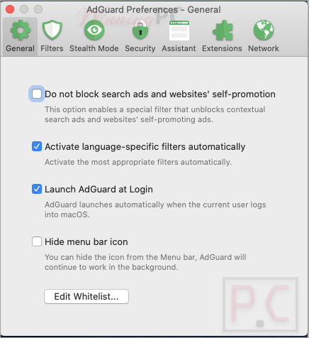 Adguard Preferences