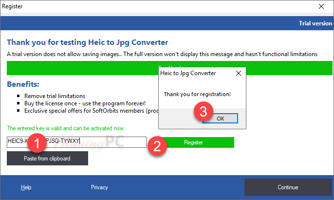 Softorbits Heic To Jpg Converter Register