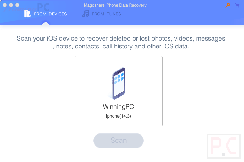 Magoshare Iphone Data Recovery For Mac Screenshot