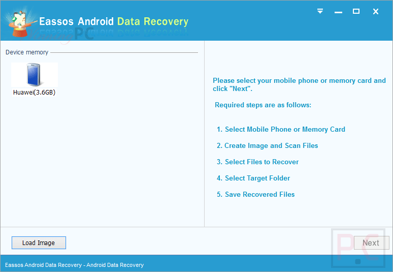 eassos android data recovery connect devices