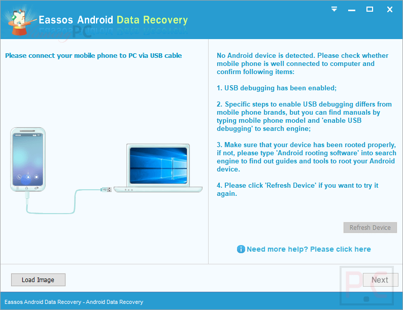 eassos android data recovery screenshot