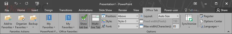 extendoffice office tab for powerpoint