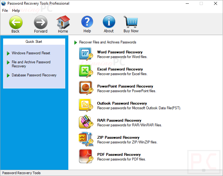 spowersoft password recovery tools microsoft files
