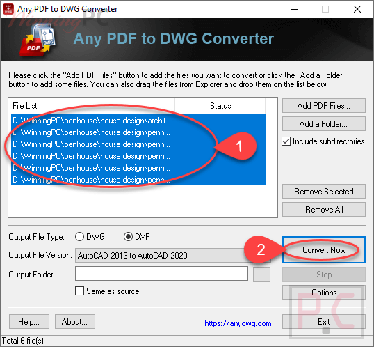 any pdf to dwg converter batch conversions