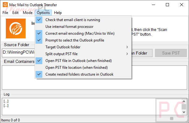 mac mail to outlook transfer options