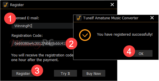 tunelf amatune music converter registration