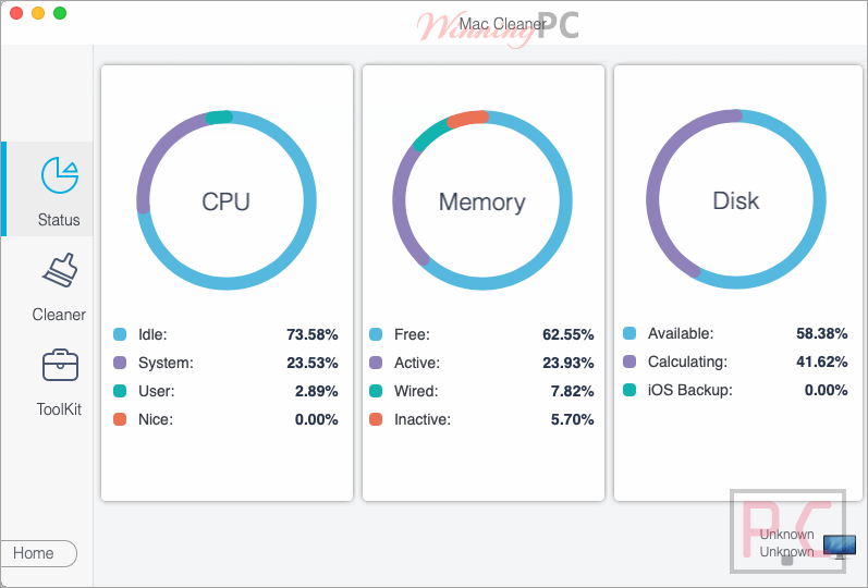 Monitoring Disk Usage Aiseesoft Mac Cleaner