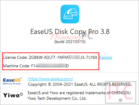 Easeus Disk Copy Pro Giveaway License Code Free